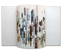 Cacophony: Fleet Flicker Flight Fancy, 2007, folded paper book, 59 x 72 x 10 cm