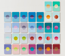 Tide Project, Things to be Forgotten, Moon ii, 2010, hand cut paint swatch cards, 81 x 83.5 cm