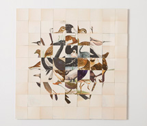 On Brown, 2008, hand cut paper, 61.5 x 62.5 cm