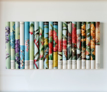 Wildflowers, 2007, rolled paper, 46 x 70 x 4 cm approx.