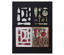 Life and Its Marvels, The Natural Balance of Life 2013, 67.5 x 52.5 cm, marine debris & book